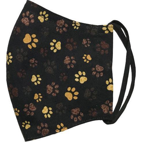 肉球柄プリントの布マスク 猫 犬 日本製 コットン100%|yume-ribbon|08