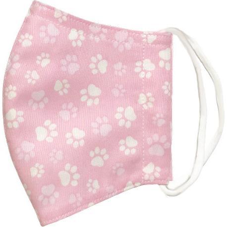 肉球柄プリントの布マスク 猫 犬 日本製 コットン100%|yume-ribbon|09