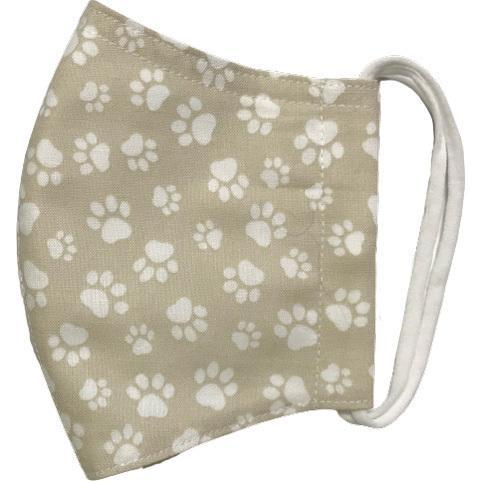 肉球柄プリントの布マスク 猫 犬 日本製 コットン100%|yume-ribbon|10