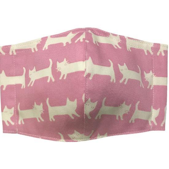 ネコさんが一列に並んでとっても可愛い布マスク |yume-ribbon|03