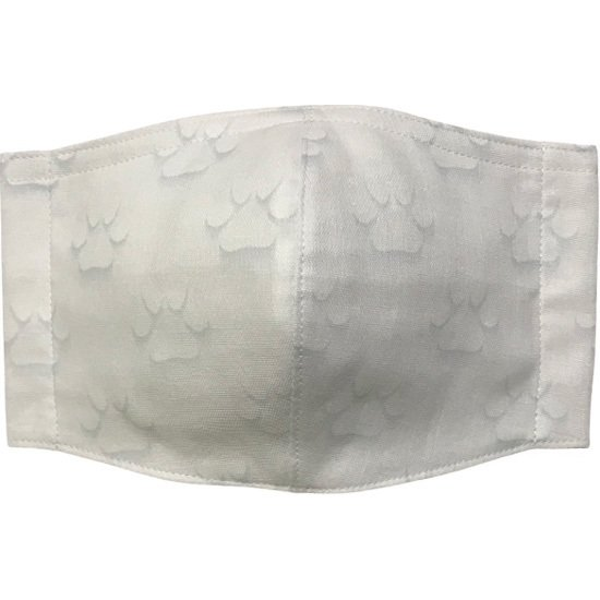 ガーゼに肉球柄プリントの布マスク  ふんわりダブルガーゼダ 猫 犬 日本製 コットン100%|yume-ribbon|02