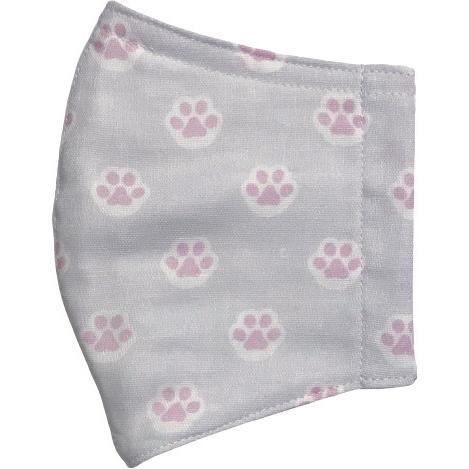 ガーゼに肉球柄プリントの布マスク  ふんわりダブルガーゼダ 猫 犬 日本製 コットン100%|yume-ribbon|11