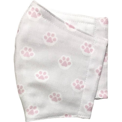 ガーゼに肉球柄プリントの布マスク  ふんわりダブルガーゼダ 猫 犬 日本製 コットン100%|yume-ribbon|14