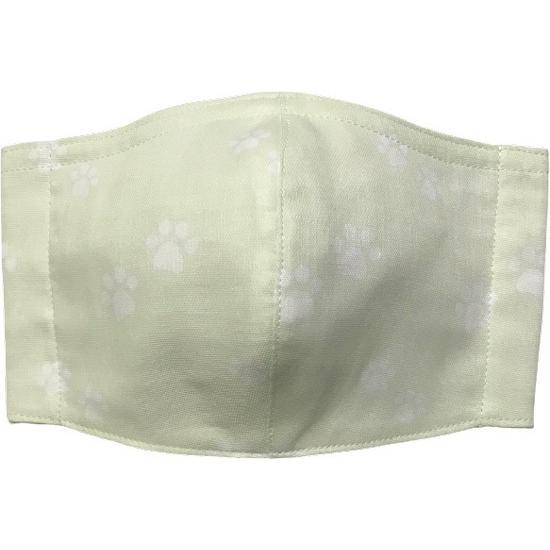 ガーゼに肉球柄プリントの布マスク  ふんわりダブルガーゼダ 猫 犬 日本製 コットン100%|yume-ribbon|03