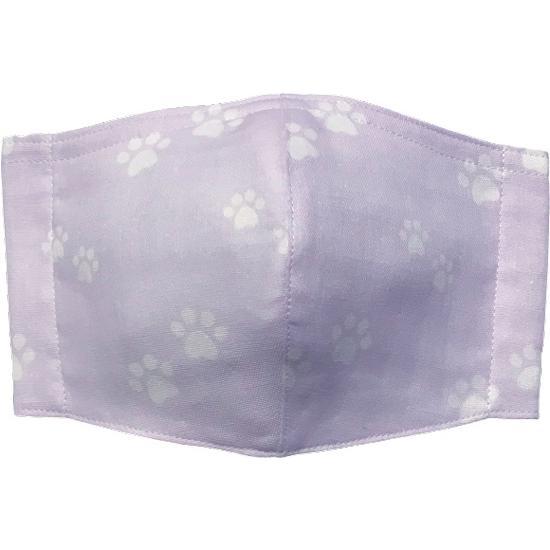 ガーゼに肉球柄プリントの布マスク  ふんわりダブルガーゼダ 猫 犬 日本製 コットン100%|yume-ribbon|04