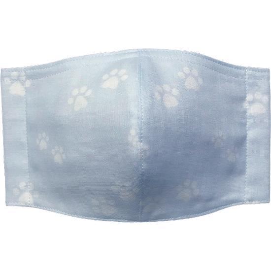 ガーゼに肉球柄プリントの布マスク  ふんわりダブルガーゼダ 猫 犬 日本製 コットン100%|yume-ribbon|05