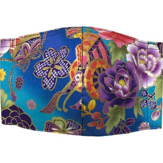 和風和柄の布マスク-3 海外へのお土産に最適 |yume-ribbon|05