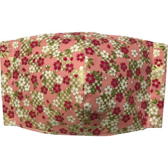 和風和柄の布マスク ゴールドライン |yume-ribbon|11