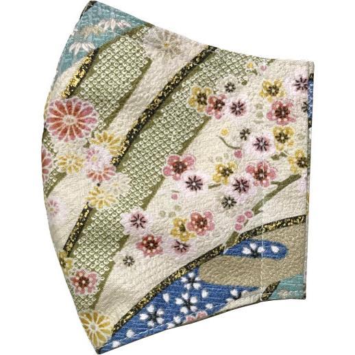 和風和柄の布マスク ゴールドライン |yume-ribbon|13