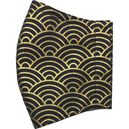 和風和柄の布マスク ゴールドライン |yume-ribbon|18
