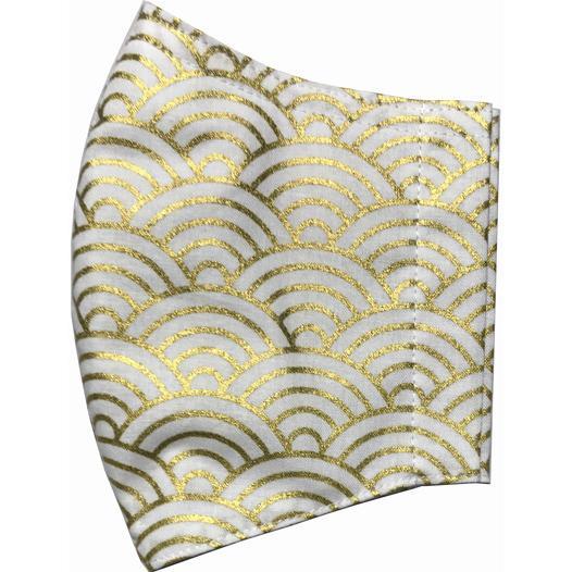 和風和柄の布マスク ゴールドライン |yume-ribbon|19