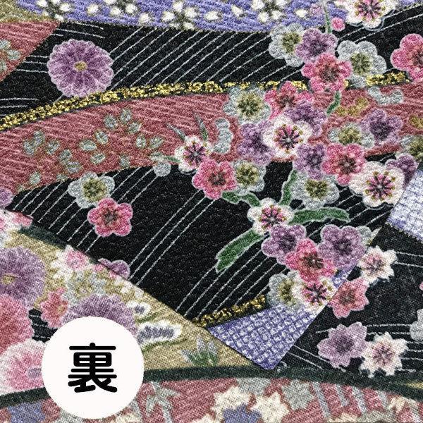 和風和柄の布マスク ゴールドライン |yume-ribbon|05