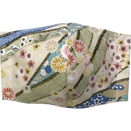 和風和柄の布マスク ゴールドライン |yume-ribbon|09
