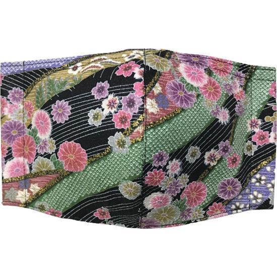和風和柄の布マスク ゴールドライン |yume-ribbon|10