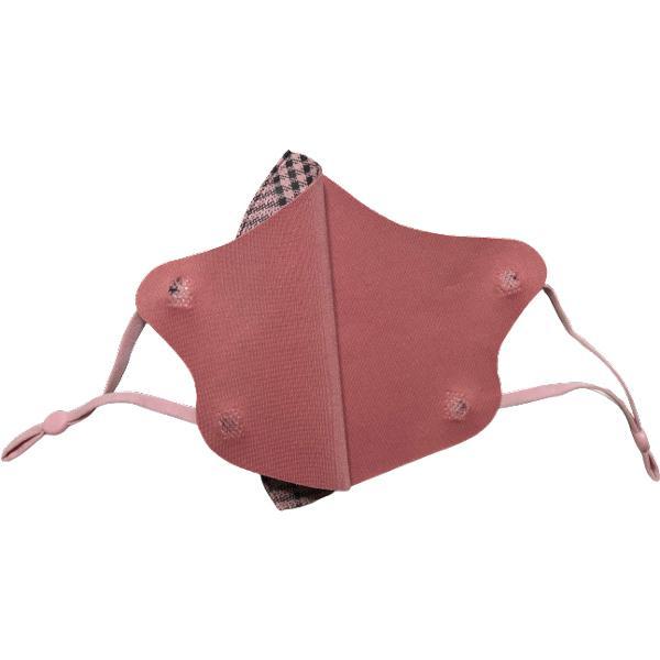 格子柄おしゃれあったか 秋冬マスク フリーサイズ まとめ買い 5枚セット アジャスター付き耳紐  yume-ribbon 05