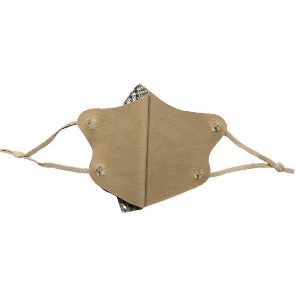 格子柄おしゃれあったか 秋冬マスク フリーサイズ まとめ買い 5枚セット アジャスター付き耳紐  yume-ribbon 06