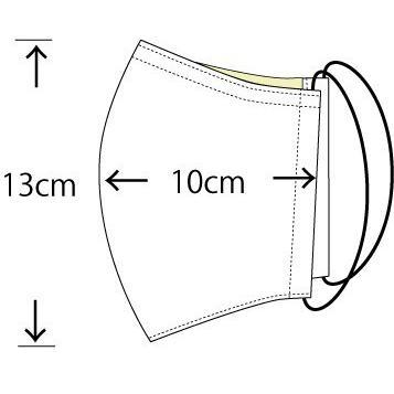 アラン模様ニットを表側に、抗菌作用のあるダブルガーゼを内側に使ったあったか布マスク 日本製|yume-ribbon|12
