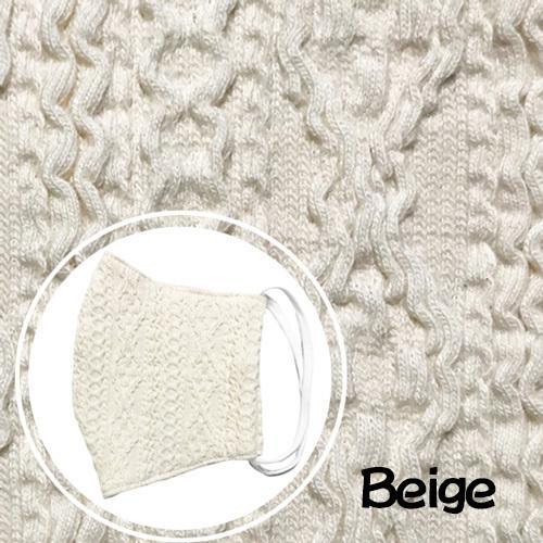 アラン模様ニットを表側に、抗菌作用のあるダブルガーゼを内側に使ったあったか布マスク 日本製|yume-ribbon|13