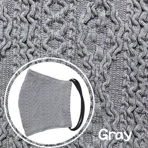 アラン模様ニットを表側に、抗菌作用のあるダブルガーゼを内側に使ったあったか布マスク 日本製|yume-ribbon|10
