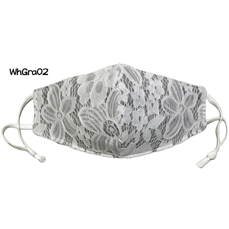 レースのおしゃれなスリムマスク。カラーガーゼと抗ウイルス・抗菌ガーゼを組み合わせての3層構造。50回洗っても抗菌作用は持続します。日本製|yume-ribbon|09