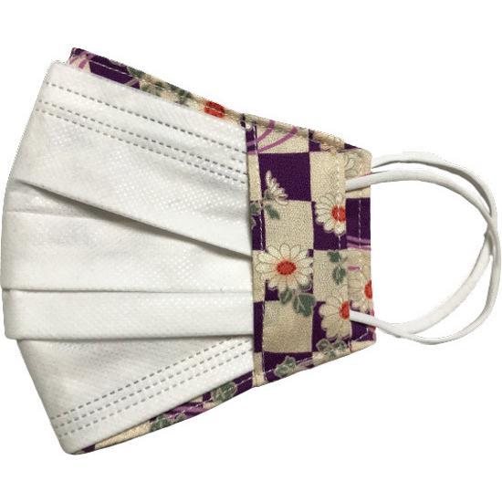 和風花柄布マスクカバー 不織布マスクがそのまま使える アムンゼン 肌側に抗ウイルス・抗菌素材使用 日本製|yume-ribbon|14