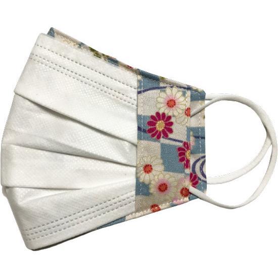 和風花柄布マスクカバー 不織布マスクがそのまま使える アムンゼン 肌側に抗ウイルス・抗菌素材使用 日本製|yume-ribbon|15