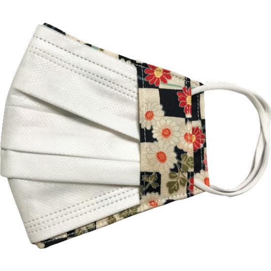 和風花柄布マスクカバー 不織布マスクがそのまま使える アムンゼン 肌側に抗ウイルス・抗菌素材使用 日本製|yume-ribbon|20
