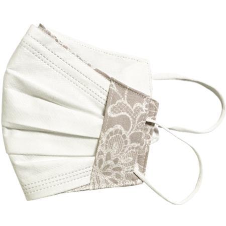 レース調プリント 布マスクカバー 不織布マスクがそのまま使える 繊細なタッチが美しいレース調のリアルなプリント   yume-ribbon 13