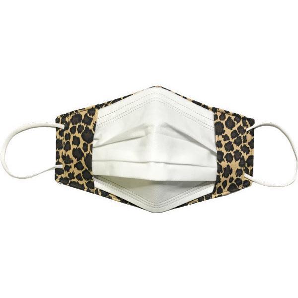 人気のヒョウ柄のマスクカバー 不織布マスクを外側につけるタイプ 市販の大人用M・Lサイズの不織布マスク用  肌側に抗ウイルス・抗菌素材使用 日本製|yume-ribbon|04