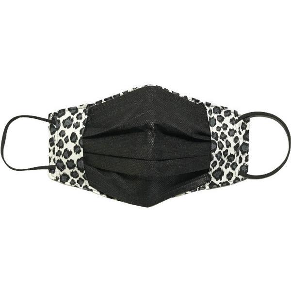 人気のヒョウ柄のマスクカバー 不織布マスクを外側につけるタイプ 市販の大人用M・Lサイズの不織布マスク用  肌側に抗ウイルス・抗菌素材使用 日本製|yume-ribbon|08
