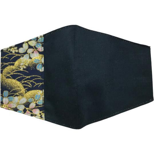 マスクカバー 不織布マスクがそのまま使える和風和柄のファブリック 肌側に抗ウイルス・抗菌素材使用 日本製 コットン100% yume-ribbon 11