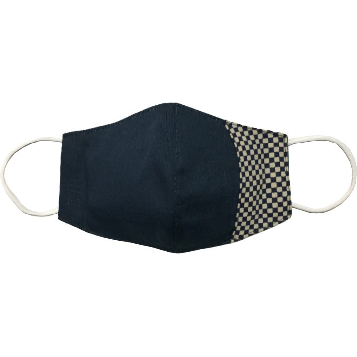 マスクカバー 不織布マスクがそのまま使える和風和柄のファブリック 肌側に抗ウイルス・抗菌素材使用 日本製 コットン100% yume-ribbon 12