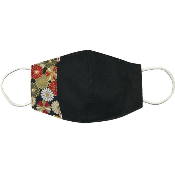 マスクカバー 不織布マスクがそのまま使える和風和柄のファブリック 肌側に抗ウイルス・抗菌素材使用 日本製 コットン100% yume-ribbon 14