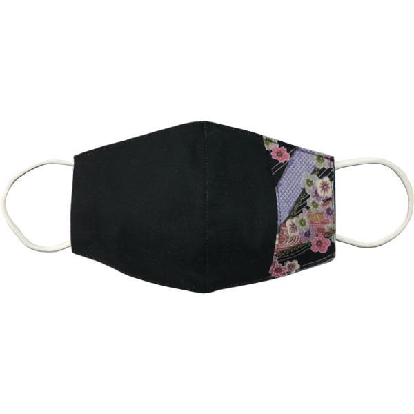 マスクカバー 不織布マスクがそのまま使える和風和柄のファブリック 肌側に抗ウイルス・抗菌素材使用 日本製 コットン100% yume-ribbon 15