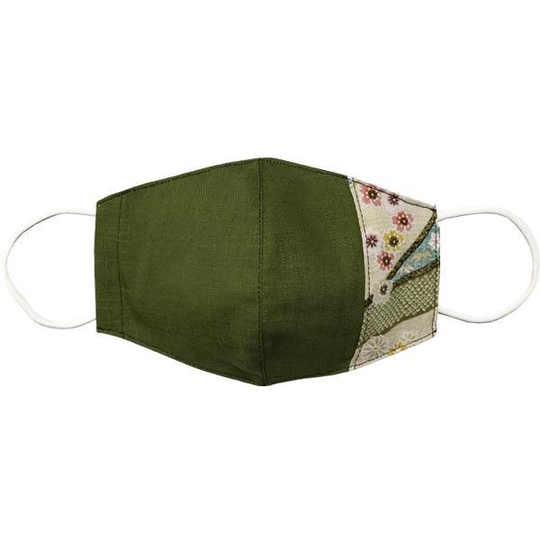 マスクカバー 不織布マスクがそのまま使える和風和柄のファブリック 肌側に抗ウイルス・抗菌素材使用 日本製 コットン100% yume-ribbon 10