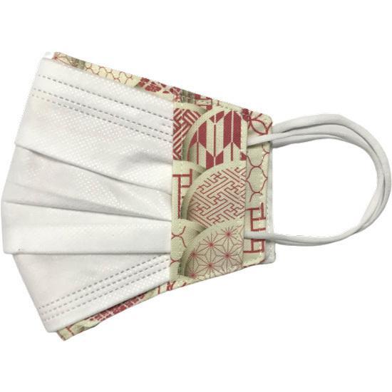和モダンマスクカバー 不織布マスクを外側につけるタイプ 市販の大人用M・Lサイズの不織布マスク用  肌側に抗ウイルス・抗菌素材使用 日本製 yume-ribbon 12