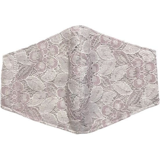 春夏用薄手 レースマスクカバー 繊細なタッチが美しいラッセルレースに接触冷感メッシュ・抗菌ダブルガーゼの3枚仕立て 不織布マスク用布カバーです。|yume-ribbon|11