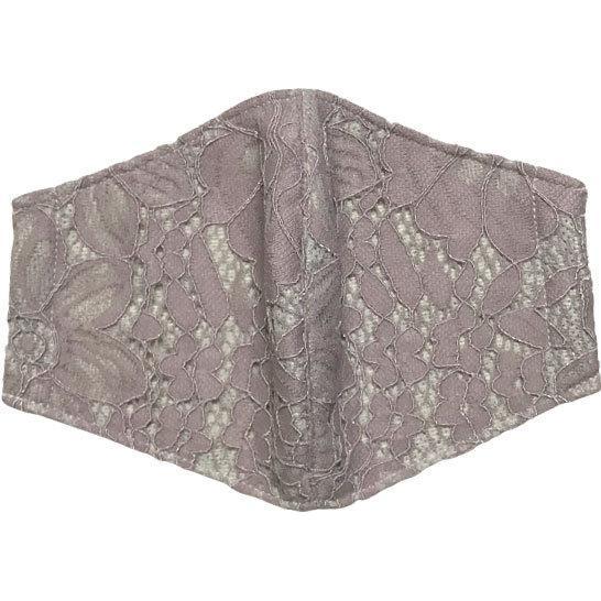 春夏用薄手 レースマスクカバー 繊細なタッチが美しいラッセルレースに接触冷感メッシュ・抗菌ダブルガーゼの3枚仕立て 不織布マスク用布カバーです。|yume-ribbon|14