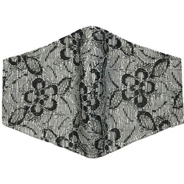 春夏用薄手 レースマスクカバー 繊細なタッチが美しいラッセルレースに接触冷感メッシュ・抗菌ダブルガーゼの3枚仕立て 不織布マスク用布カバーです。|yume-ribbon|19