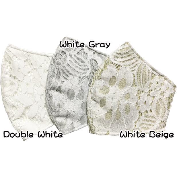 春夏用薄手 レースマスクカバー 繊細なタッチが美しいラッセルレースに接触冷感メッシュ・抗菌ダブルガーゼの3枚仕立て 不織布マスク用布カバーです。|yume-ribbon|05