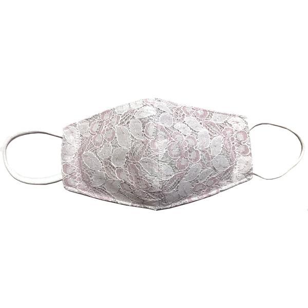 春夏用薄手 レースマスクカバー 繊細なタッチが美しいラッセルレースに接触冷感メッシュ・抗菌ダブルガーゼの3枚仕立て 不織布マスク用布カバーです。|yume-ribbon|07