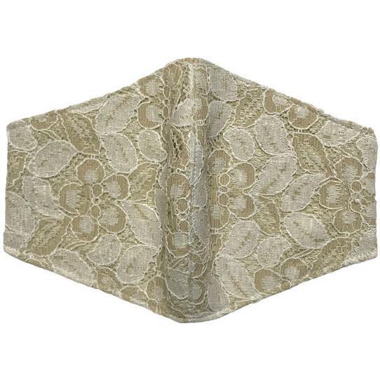 春夏用薄手 レースマスクカバー 繊細なタッチが美しいラッセルレースに接触冷感メッシュ・抗菌ダブルガーゼの3枚仕立て 不織布マスク用布カバーです。|yume-ribbon|09