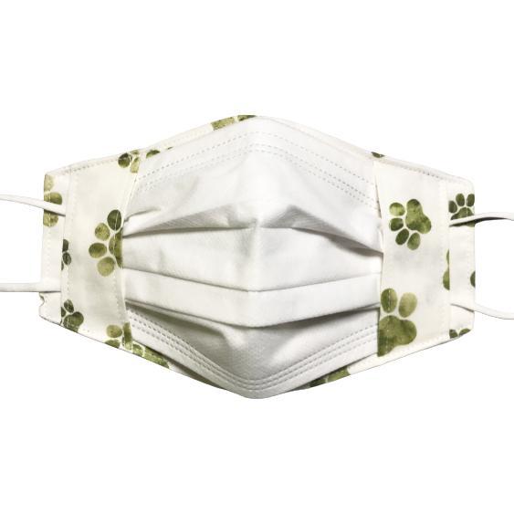 水彩肉球マスクカバー  不織布外側タイプ 夏用接触冷感・吸収速乾素材のメッシュもしくはダブルガーゼを選択  市販の大人用M・Lサイズ 日本製 コットン100% yume-ribbon 11