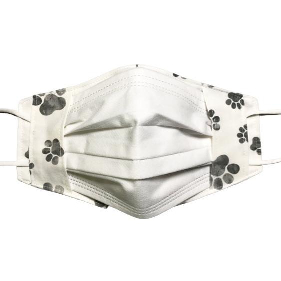 水彩肉球マスクカバー  不織布外側タイプ 夏用接触冷感・吸収速乾素材のメッシュもしくはダブルガーゼを選択  市販の大人用M・Lサイズ 日本製 コットン100% yume-ribbon 12