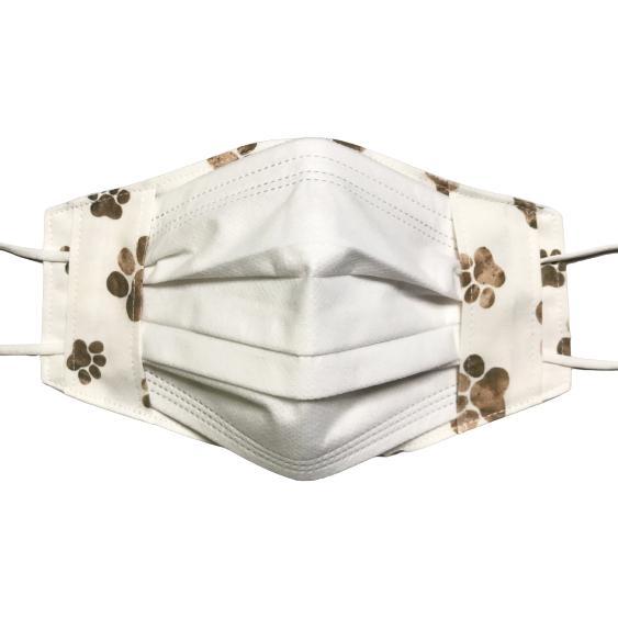 水彩肉球マスクカバー  不織布外側タイプ 夏用接触冷感・吸収速乾素材のメッシュもしくはダブルガーゼを選択  市販の大人用M・Lサイズ 日本製 コットン100% yume-ribbon 14