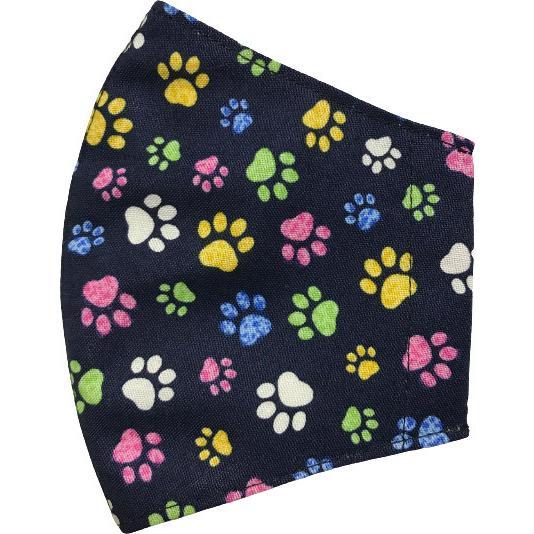不織布マスクがそのまま使える布マスクカバー 肉球プリント 肌側に抗ウイルス・抗菌素材使用 猫 犬 日本製 コットン100%|yume-ribbon|11