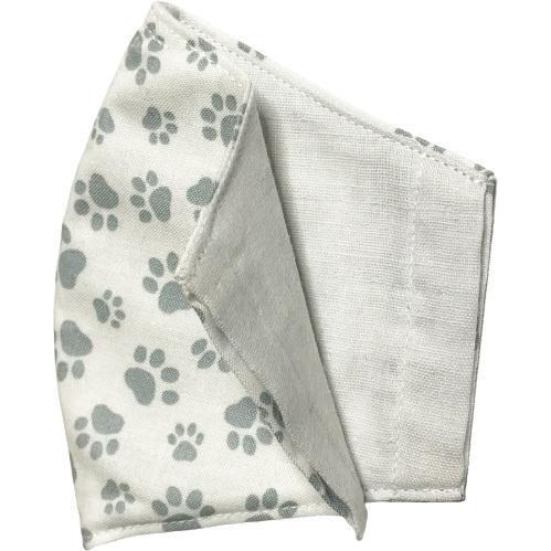 不織布マスクがそのまま使える布マスクカバー 肉球プリント 肌側に抗ウイルス・抗菌素材使用 猫 犬 日本製 コットン100%|yume-ribbon|12