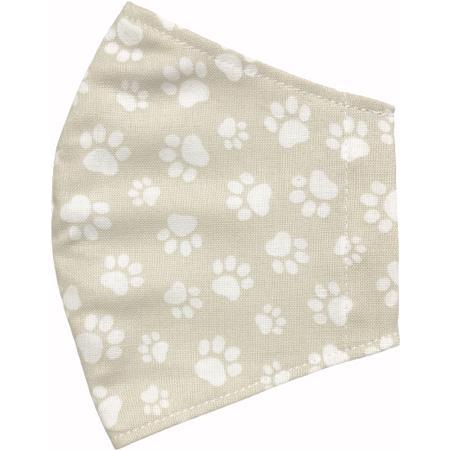 不織布マスクがそのまま使える布マスクカバー 肉球プリント 肌側に抗ウイルス・抗菌素材使用 猫 犬 日本製 コットン100%|yume-ribbon|13