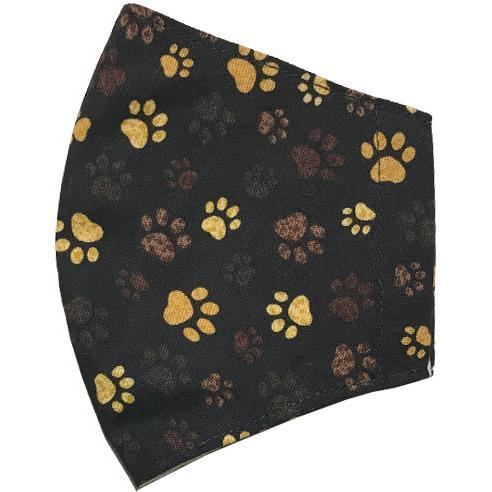 不織布マスクがそのまま使える布マスクカバー 肉球プリント 肌側に抗ウイルス・抗菌素材使用 猫 犬 日本製 コットン100%|yume-ribbon|14