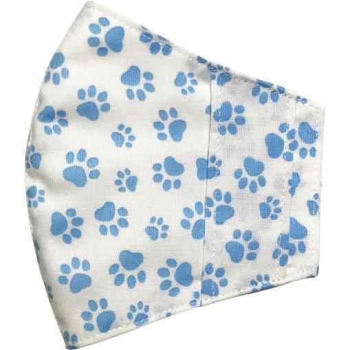 不織布マスクがそのまま使える布マスクカバー 肉球プリント 肌側に抗ウイルス・抗菌素材使用 猫 犬 日本製 コットン100%|yume-ribbon|19